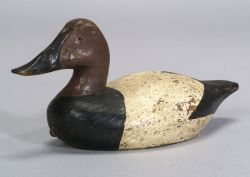 Diminutive Carved and Painted Canvasback Drake Decoy
