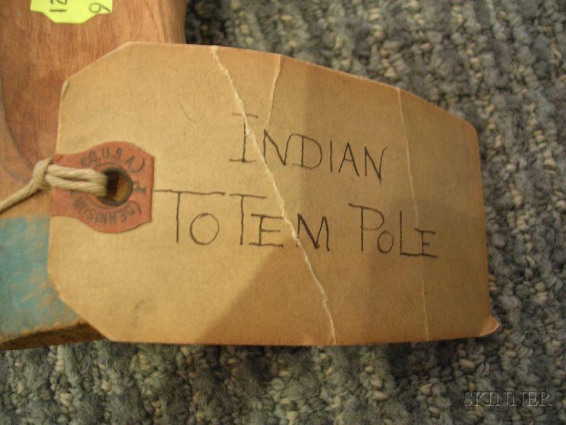 Northwest Coast Carved and Painted Wood Totem Pole