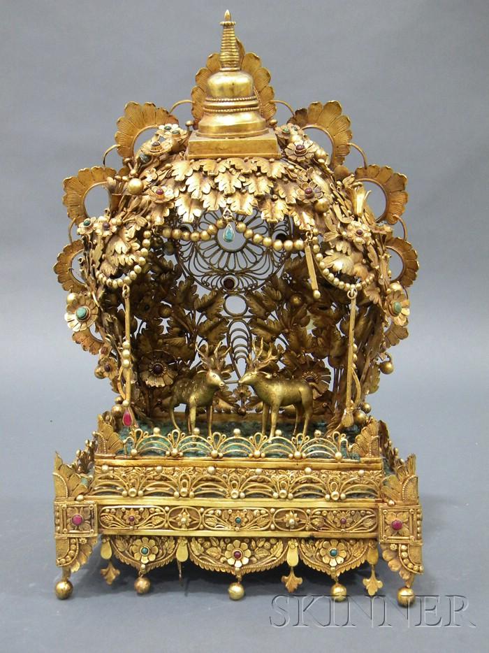 Gilt-bronze Shrine