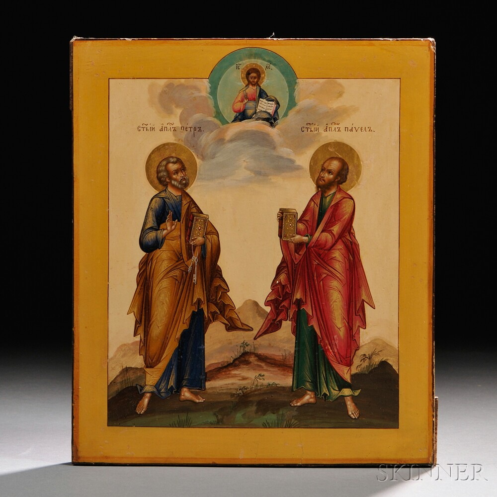 Russian Icon of the Apostles Peter and Paul