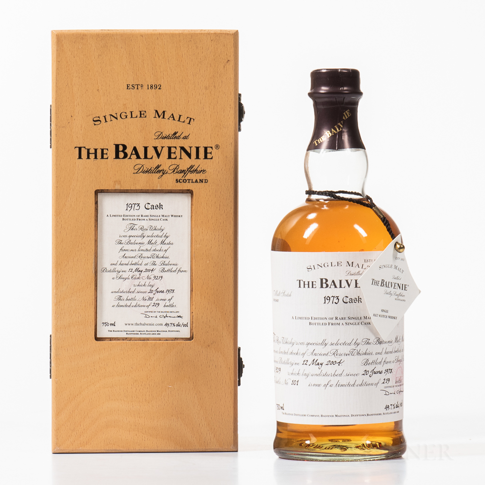 Balvenie Vintage Cask 31 Years Old 1973, 1 750ml bottle (owc)