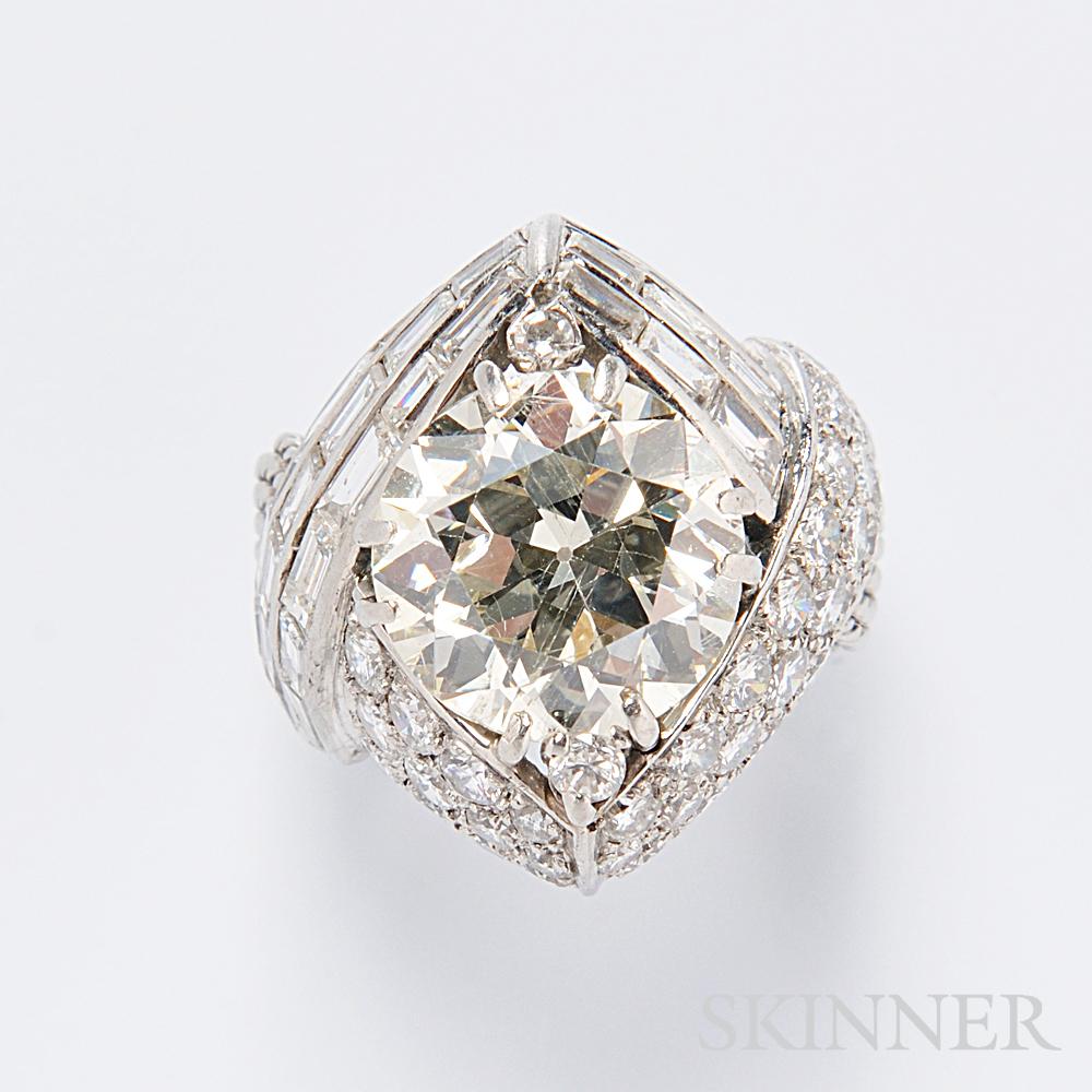 Platinum and Diamond Ring, Sterle