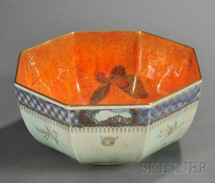 Wedgwood Lustre Octagonal Bowl