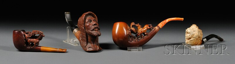 Four Carved Pipes