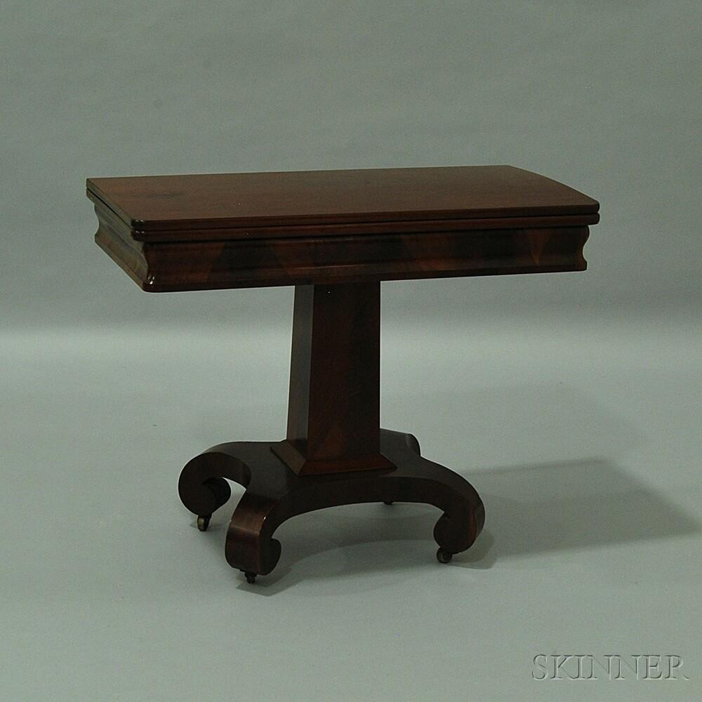 Empire Mahogany Card Table