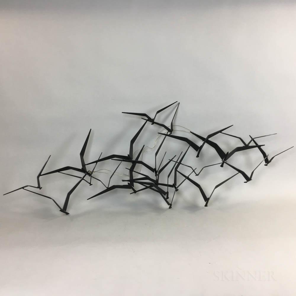 Curtis Jere (Curtis Freiler and Jerry Fels) Birds in Flight   Metal Wall Sculpture