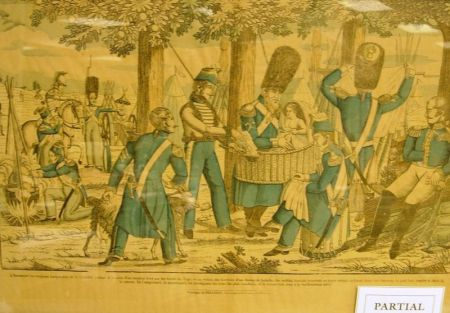 Four Framed French Napoleonic Military Scene Prints by Pellerin.