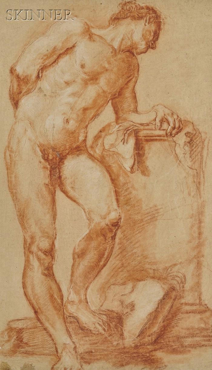 School of Giovanni Battista Piazzetta (Italian, 1682-1754)      Standing Portrait of a Man