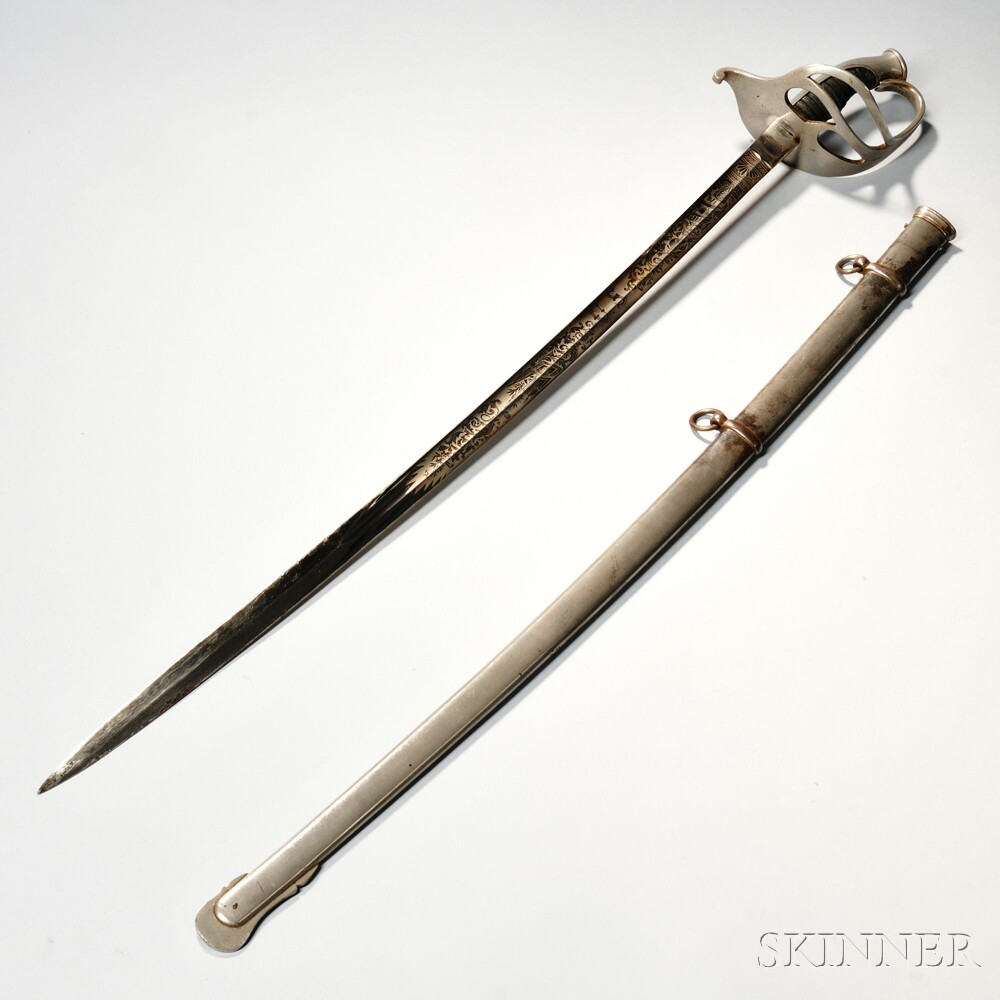 Left Handed Identified Non-regulation Officer's Sword