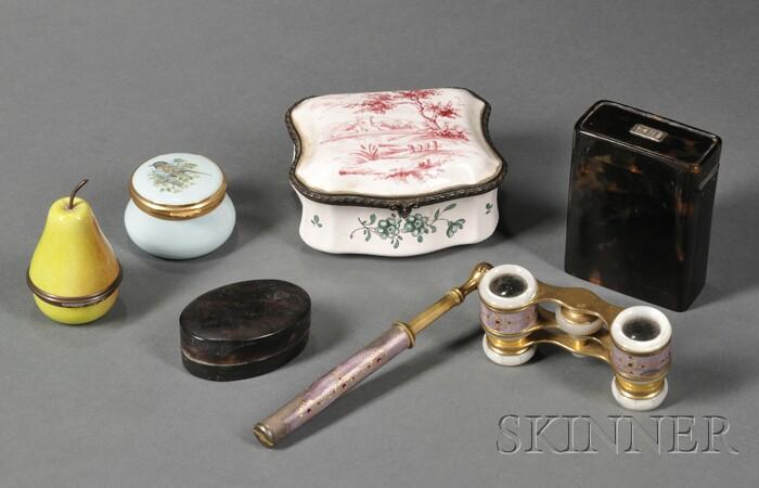 Five Small Continental Decorative Items