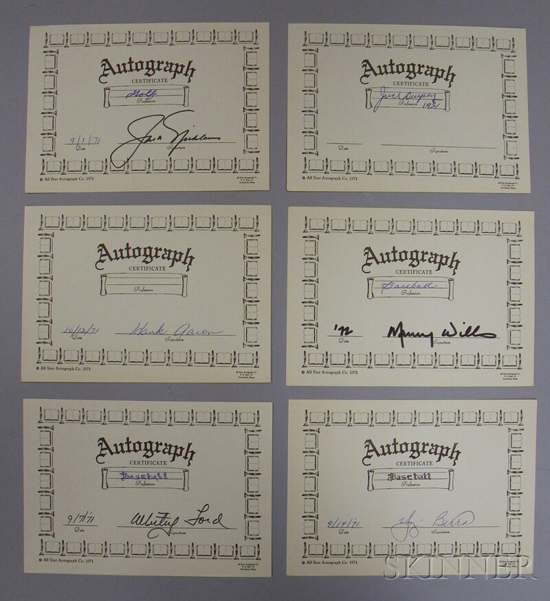 Four Professional Athlete Autographs