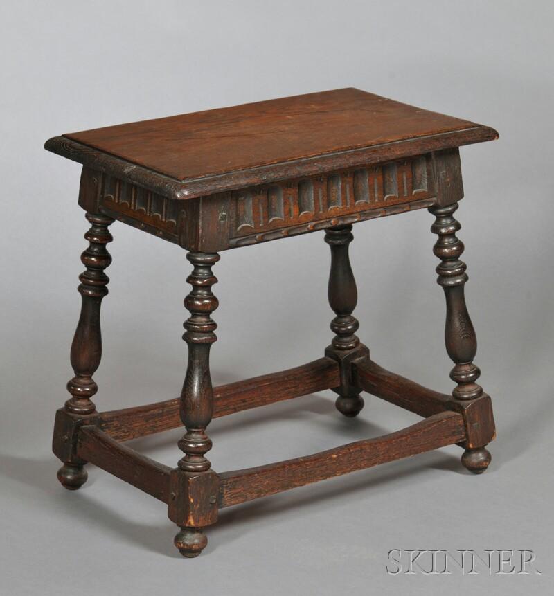 Jacobean-style Oak Stool