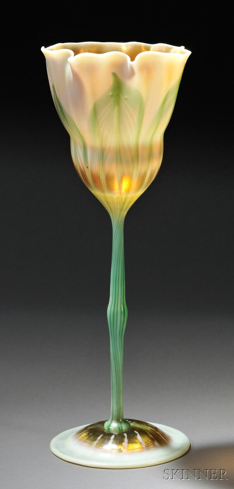 tiffany floriform vase sale number 2626b lot number 148 skinner auctioneers. Black Bedroom Furniture Sets. Home Design Ideas