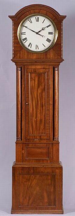 Scottish Mahogany Longcase Flute Clock