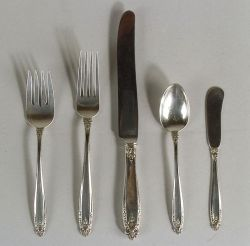 "International Sterling ""Prelude"" Pattern Partial Flatware Service"