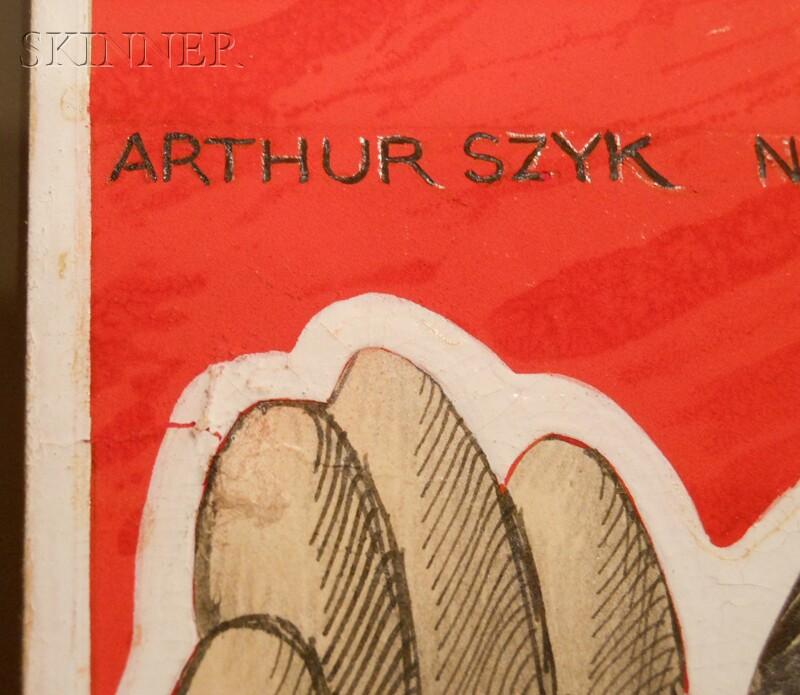 Arthur Szyk (American, 1894-1951)      U.S. Rubber Co. War Production  /A Political Cartoon of the Axis Alliance