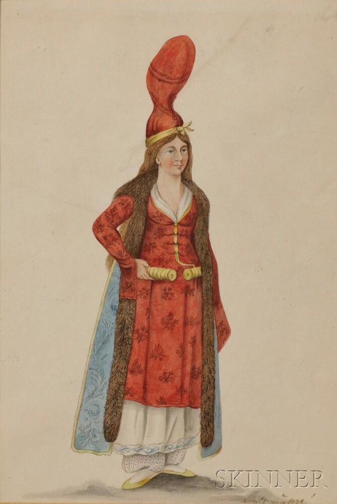 Louis Dupré (French, 1789-1837)      Orientalist Costume Study