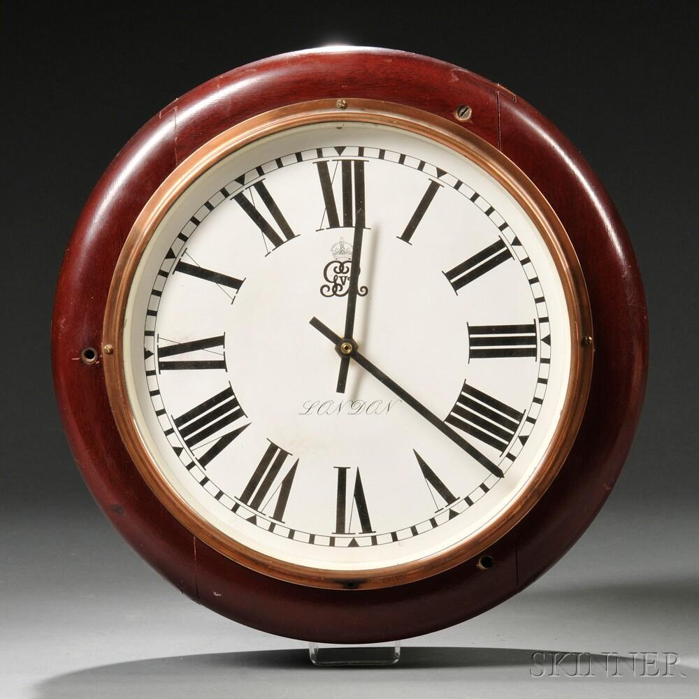 English Mahogany Double-dial Clock