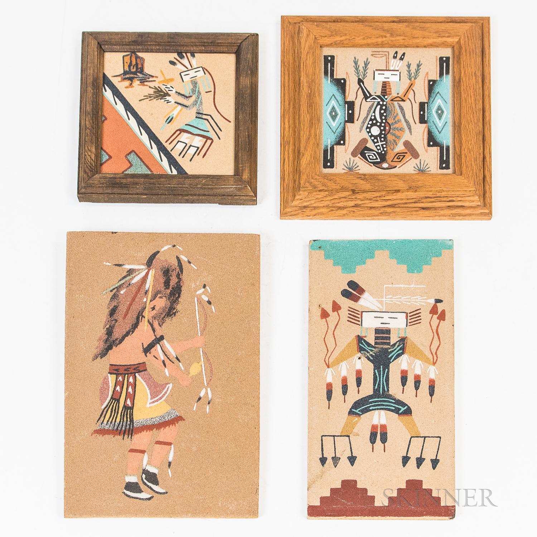 Four Contemporary Navajo Sand Paintings
