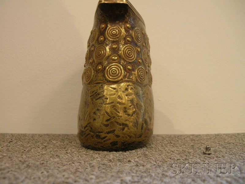 Austrian Art Deco Patinated Bronze Mantel Vase