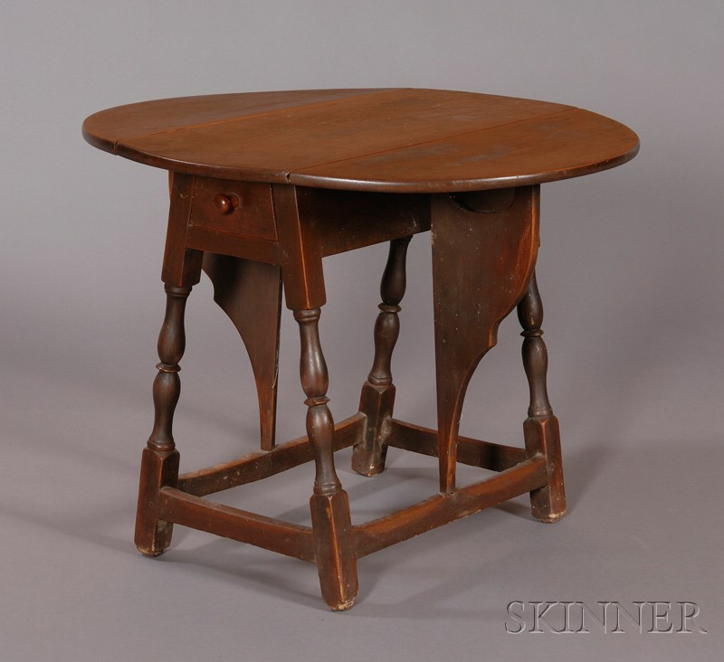 William and Mary Red-painted Butterfly Table