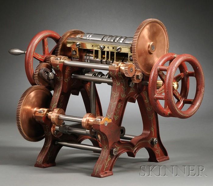 Forging Machine Patent Model by E. Wheeler