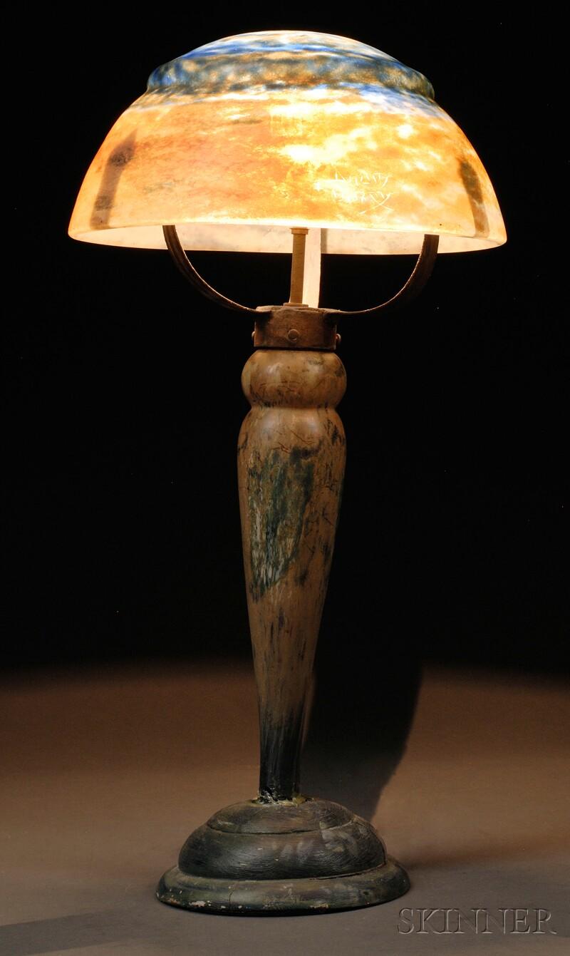 Daum Art Glass Table Lamp