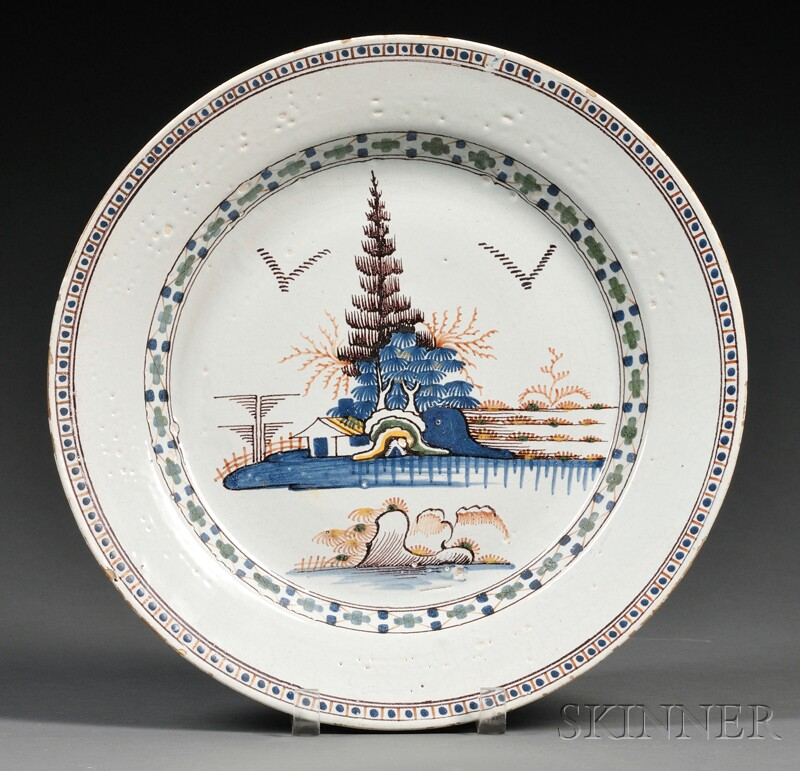 Polychrome Delftware Charger