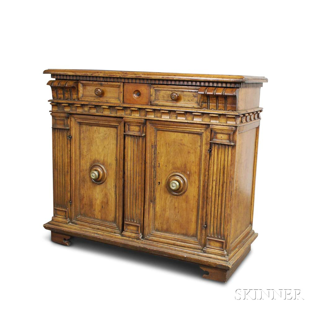 Northern Italian Baroque Walnut Cabinet
