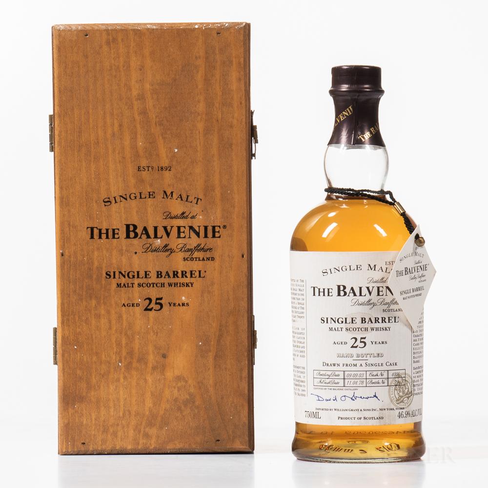 Balvenie Single Barrel 25 Years Old 1978, 1 750ml bottle (owc)