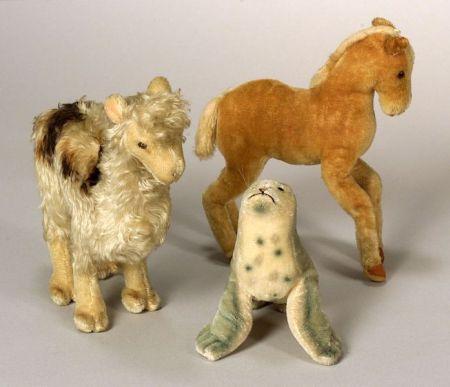 Three Mohair Steiff Animals