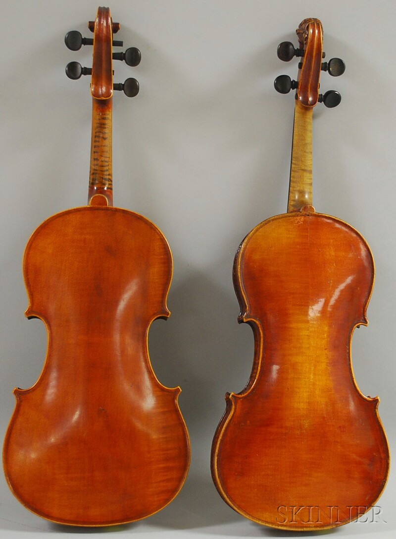 Two Violins, one French, the other German, c. 1880