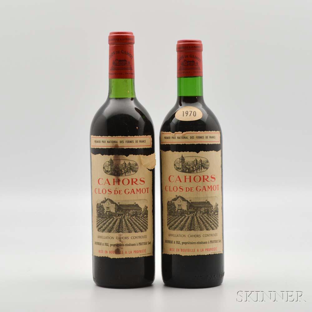 Les Clos de Gamot 1970, 2 bottles
