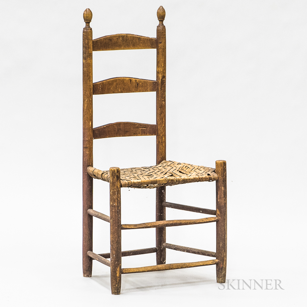 Country Turned Maple Ladder-back Side Chair