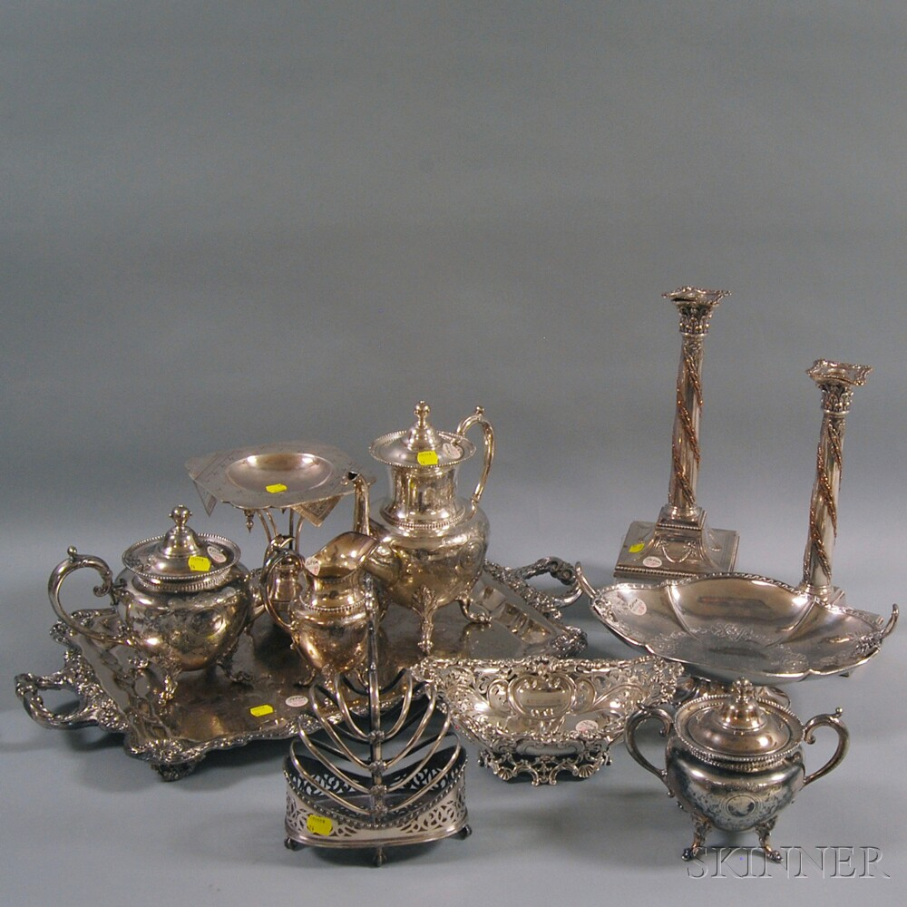 Group of Mostly Victorian Silver-plated TablewareGroup of Mostly Victorian...