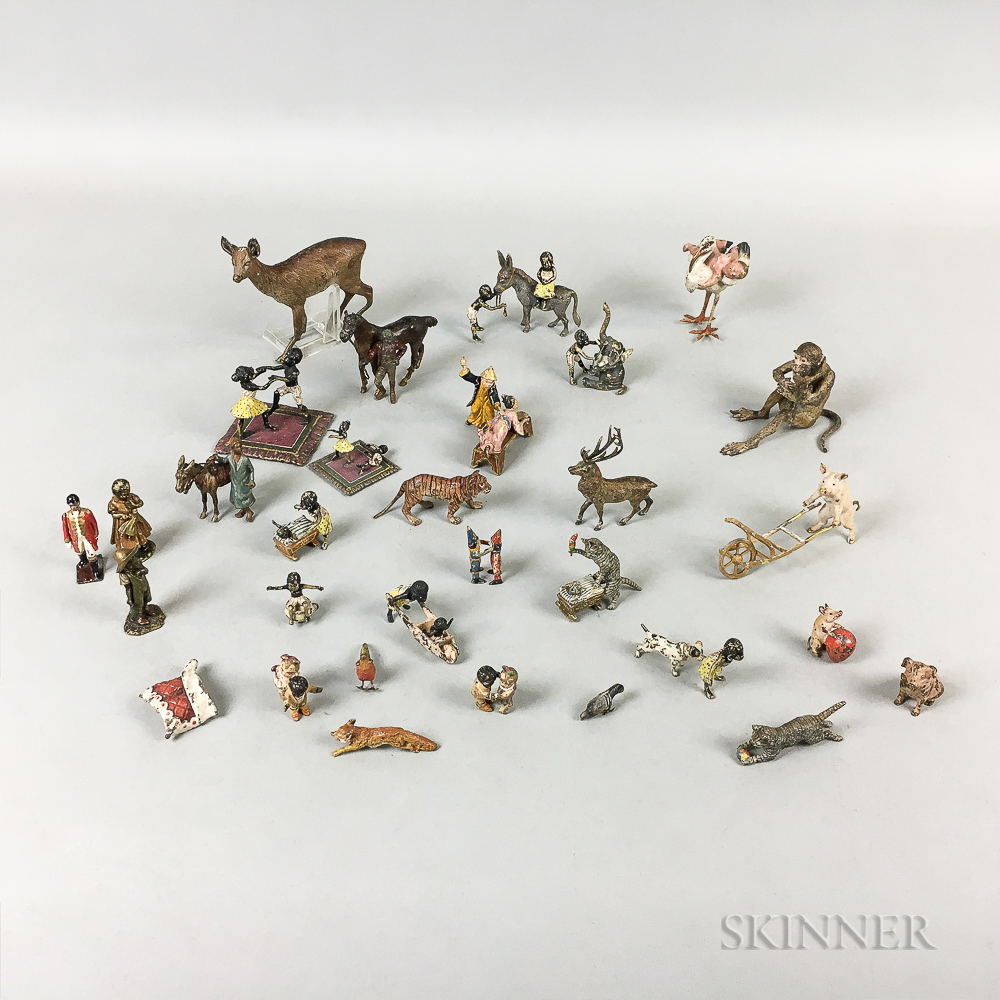 Group of Viennese Miniature Cold-painted Bronzes