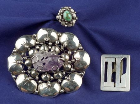 Group of Three Sterling Silver Jewelry Items, Mary Gage