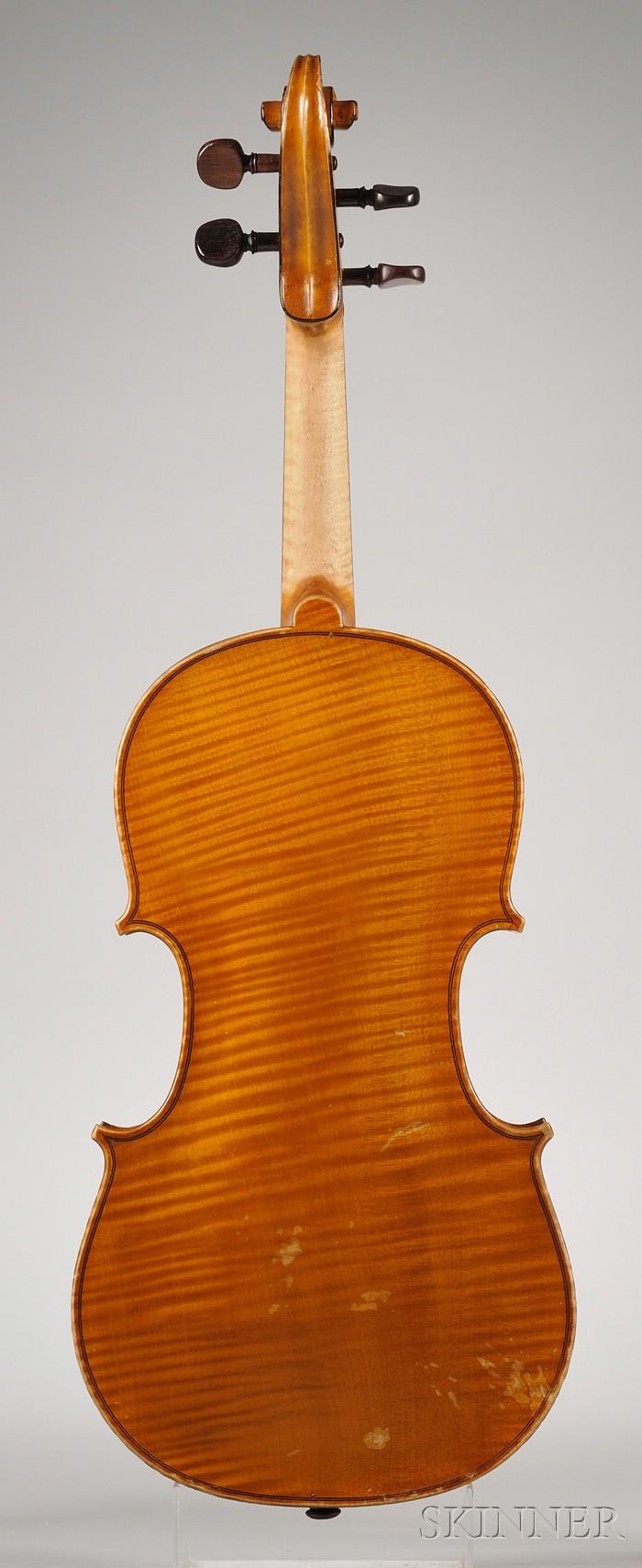 Modern French Violin, Possibly Delanoy Workshop, Bordeaux, c. 1910