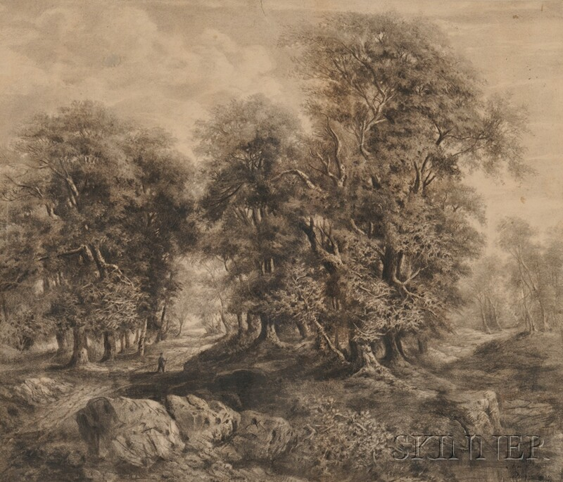 French School, 19th Century      Barbizon Landscape.