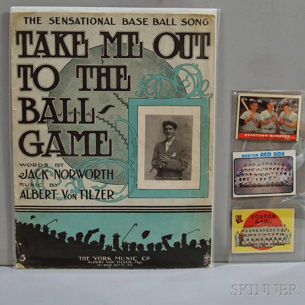 Four Pieces of Baseball Memorabilia