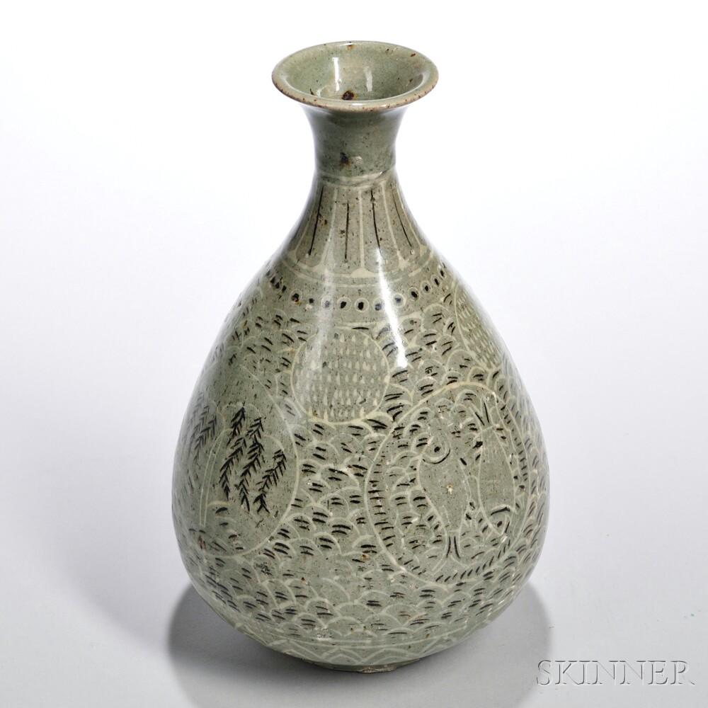 Stoneware Celadon-glazed Vase