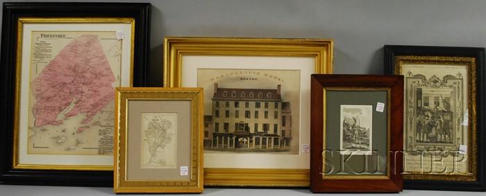 Five Assorted Framed Prints