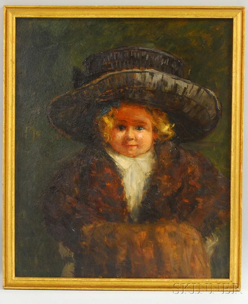 Louis Aston Knight (American, 1873-1948)      Portrait of Victoria (nee Frelinghuysen) Bates (1907-2002)