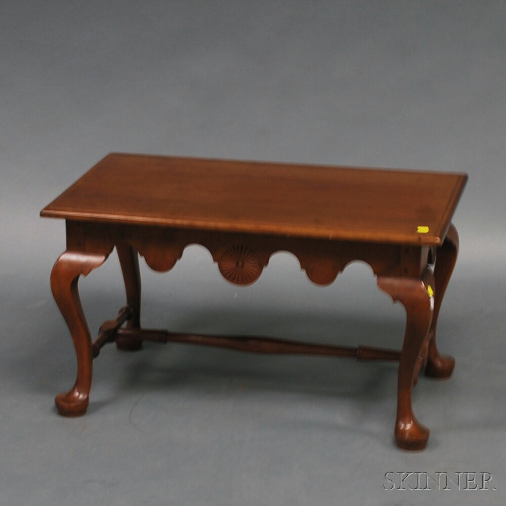 Queen Anne-style Carved Cherry Coffee Table