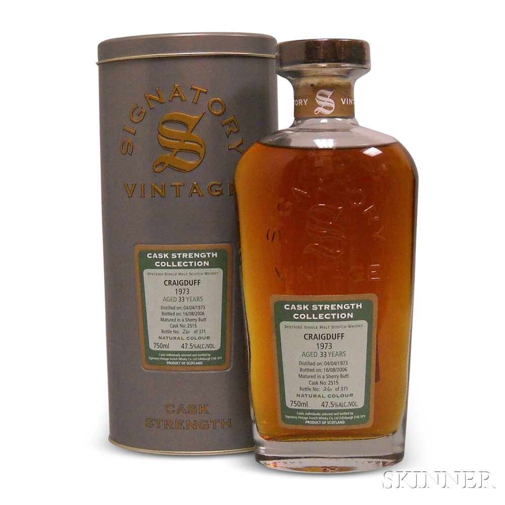Craigduff 33 Years Old 1973, 1 750ml bottle