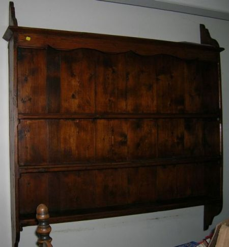 Provincial Pine Hanging Wall Shelf