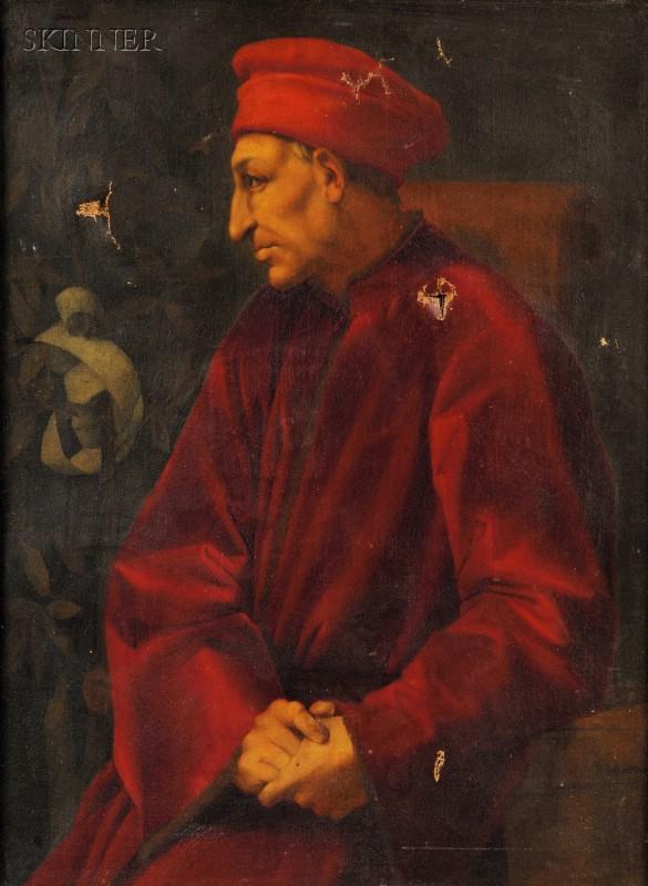 After Pontormo (Jacopo Carucci) (Italian, 1494-1556)      Portrait of Cosimo de' Medici