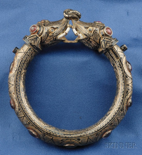 Mogul-Style Enamel Bangle, India