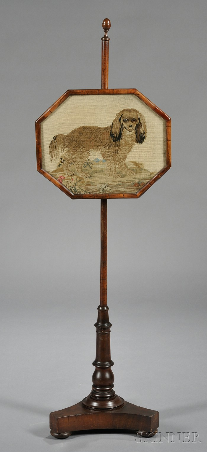 Classical Mahogany and Mahogany Veneer Polescreen