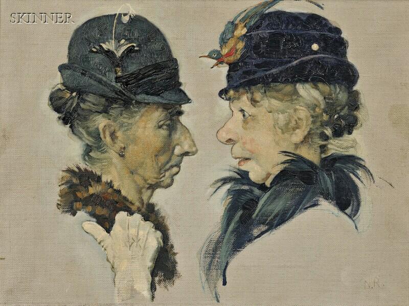Norman Rockwell (American, 1894-1978)      The Gossips (Vignette I)